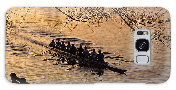 Eight Man Crew Rowing Along Montlake Cut  Galaxy Case