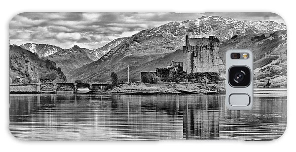 Eilean Donan - A Reflection Without Colour Galaxy Case