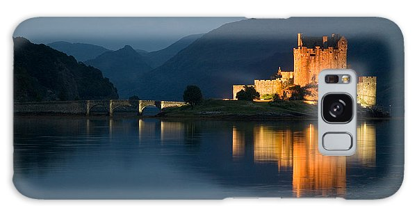 Eilean Donan Castle At Night Galaxy Case by Jeremy Voisey