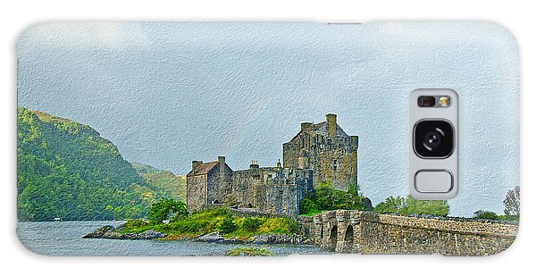 Eilean Donan Castle Textured 2 Galaxy Case