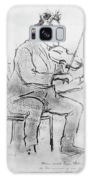 Einstein Playing The Violin Galaxy Case
