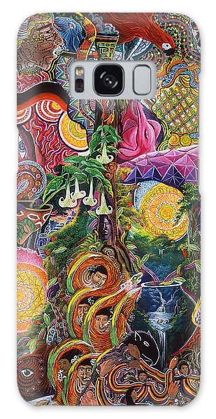 Galaxy Case featuring the painting El Encanto De Las Piedras by Pablo Amaringo