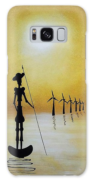 Don Quixote Fighting The Windmills Galaxy Case