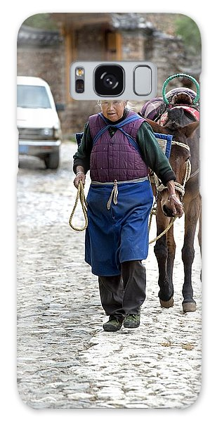 People's Republic Of China Galaxy Case - Elderly Naxi Woman With Her Horse by Tony Camacho