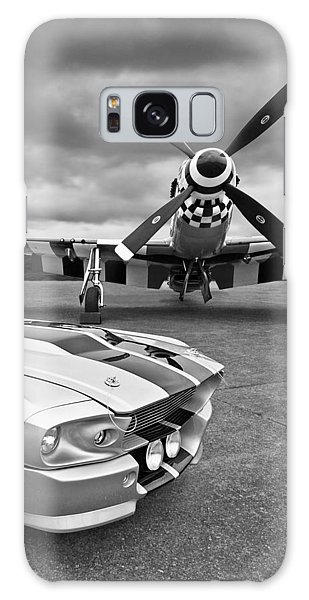 Eleanor Mustang With P51 Black And White Galaxy Case