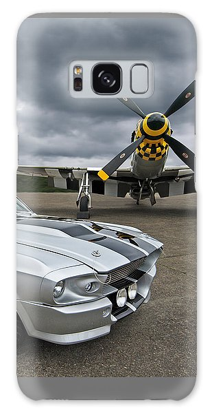 Eleanor Mustang With P51 Galaxy Case by Gill Billington