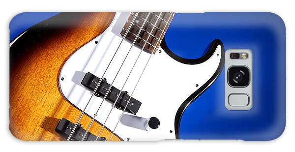 Electric Bass Guitar Photograph On Blue 3322.02 Galaxy Case