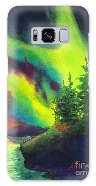 Electric Green In The Sky 2 Galaxy Case