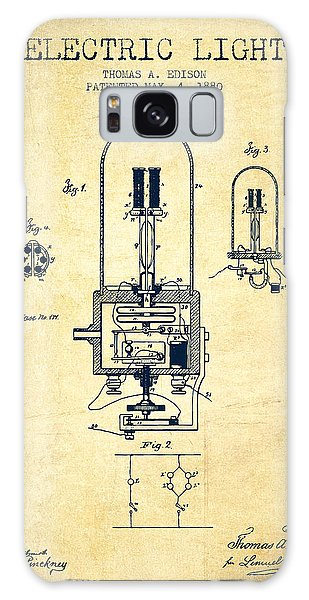 Light Galaxy Case - Electric Light Patent From 1880 - Vintage by Aged Pixel