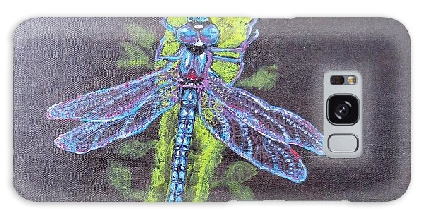 Electrified Blue Dragonfly Galaxy Case by Kimberlee Baxter