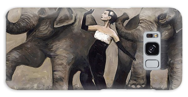 Elegance And Elephants Galaxy Case by Billie Colson