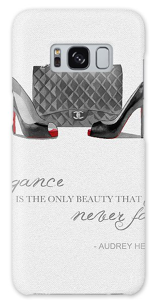 Elegance Never Fades Black And White Galaxy Case