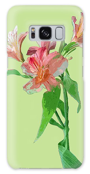 Elegance On Green Galaxy Case by Karen Nicholson