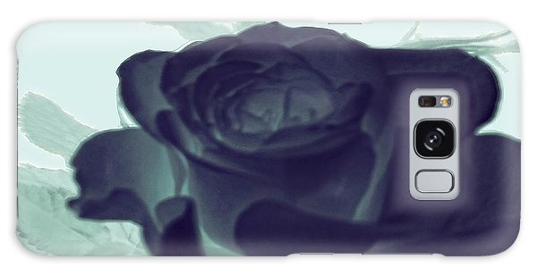 Elegant Black Rose Galaxy Case