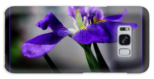 Elegant Iris With Black Border Galaxy Case
