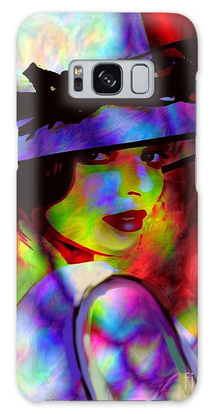 Elegant Woman In Shade Galaxy Case by Diana Riukas