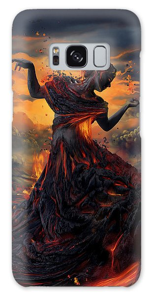 Poster Galaxy Case - Elements - Fire by Cassiopeia Art