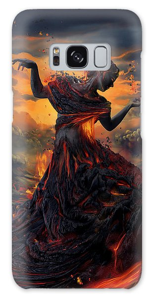 Shipping Galaxy Case - Elements - Fire by Cassiopeia Art