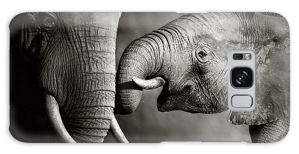 Elephant Affection Galaxy Case by Johan Swanepoel