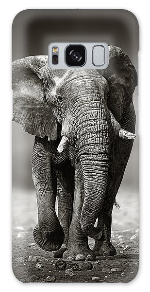 Animal Galaxy Case - Elephant Approach From The Front by Johan Swanepoel