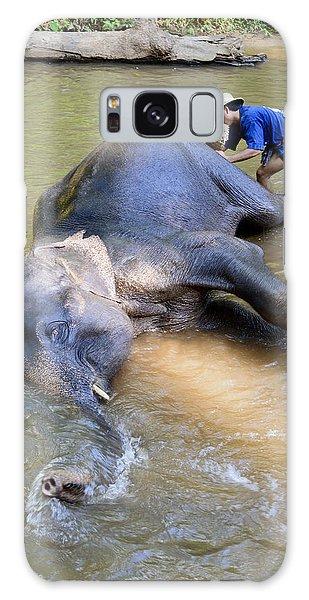 Elephant Bath Galaxy Case
