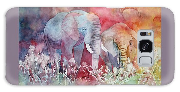 Elephant Duo Galaxy Case by Nancy Jolley