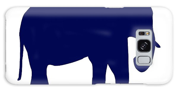 Elephant In Navy And White Galaxy Case