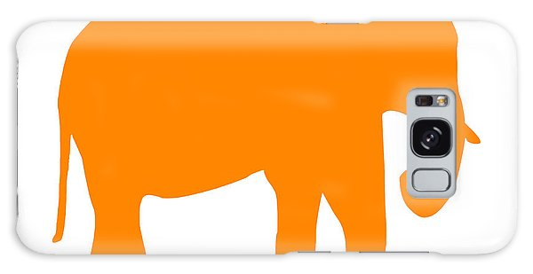 Elephant In Orange And White Galaxy Case
