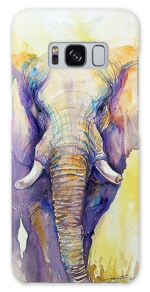 Elephant In Purple Galaxy Case
