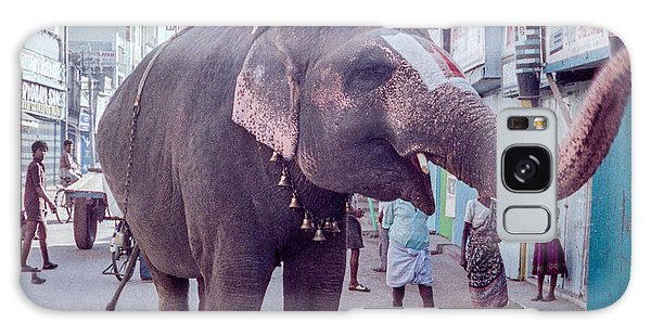 Elephant In The Street In India Galaxy Case