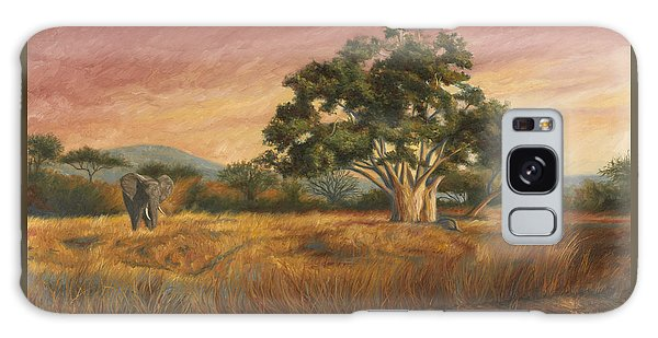 Scenery Galaxy Case - Elephant In The Wild by Lucie Bilodeau
