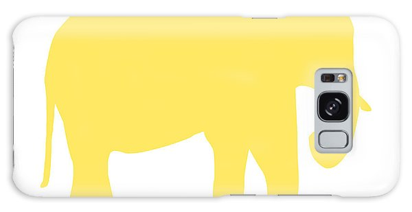 Elephant In Yellow And White Galaxy Case