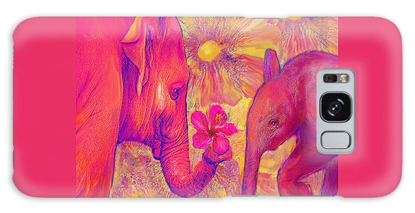 Elephant Love Galaxy Case by Jane Schnetlage
