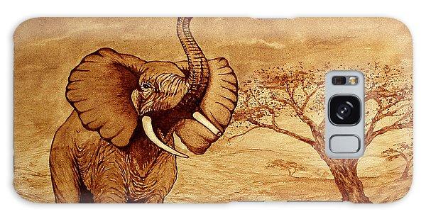 Elephant Majesty Original Coffee Painting Galaxy Case