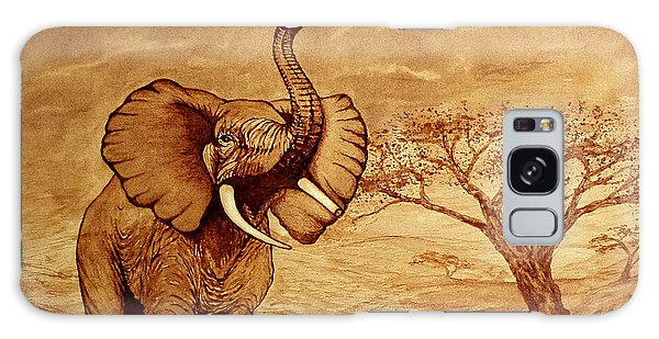Elephant Majesty Original Coffee Painting Galaxy Case