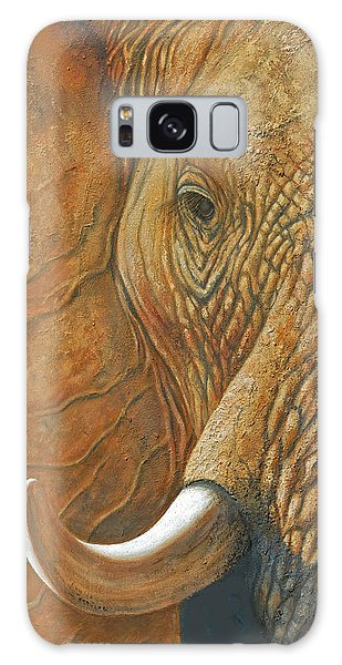 Elephant Matriarch Portrait Close Up Galaxy Case