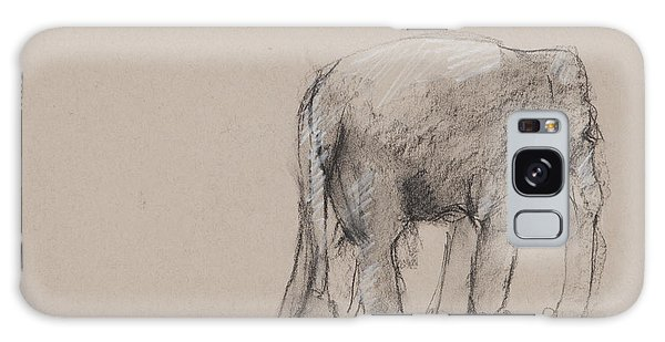 Elephant Charcoal Study #1 Galaxy Case