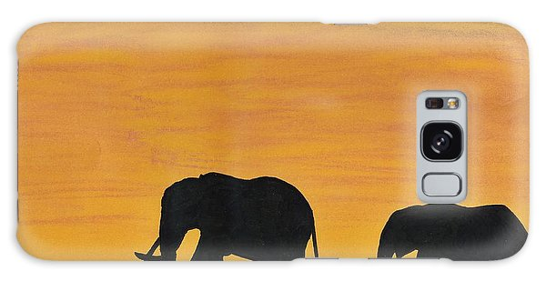 Elephants - At - Sunset Galaxy Case