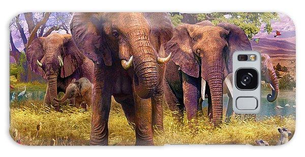 Meerkat Galaxy S8 Case - Elephants by Jan Patrik Krasny