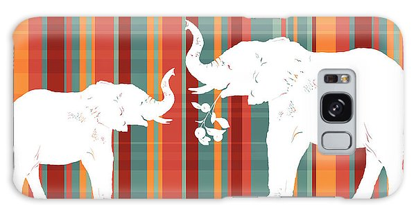 Fall Galaxy Case - Elephants Share by Alison Schmidt Carson