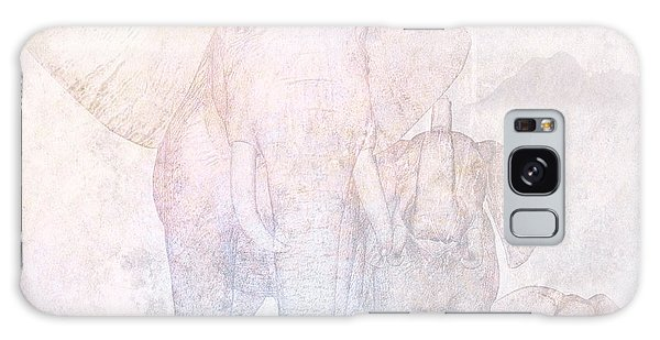 Front Galaxy Case - Elephants by John Edwards