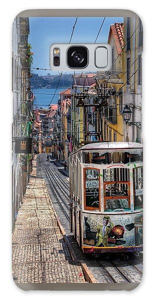 Elevador Da Bica Lisbon Galaxy Case by Carol Japp