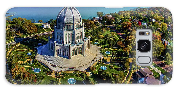 Place Of Worship Galaxy Case - Elevated View Of Bahai Temple by Panoramic Images