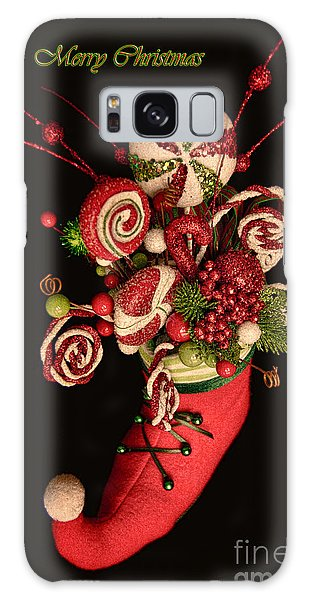 Elf Boot Merry Christmas Galaxy Case