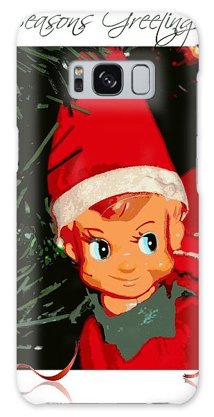 Elf On The Shelf Season's Greetings Galaxy Case by Michelle Frizzell-Thompson
