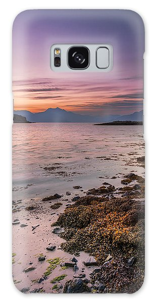 Landscape Wall Art Sunset Isle Of Skye Galaxy Case