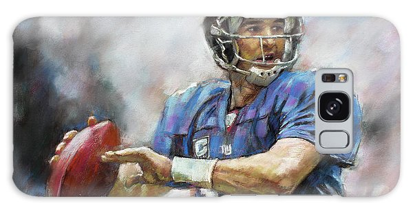 Eli Manning Nfl Ny Giants  Galaxy Case by Viola El