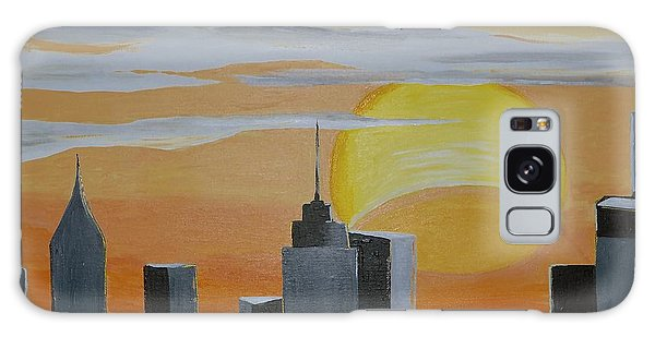 Elipse At Sunrise Galaxy Case by Donna Blossom