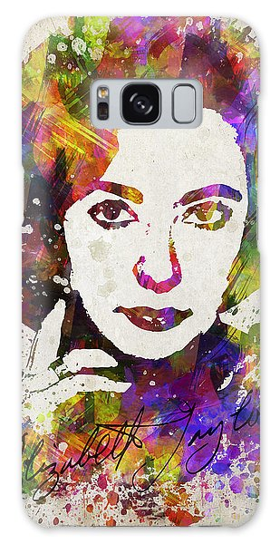 Elizabeth Taylor In Color Galaxy Case by Aged Pixel