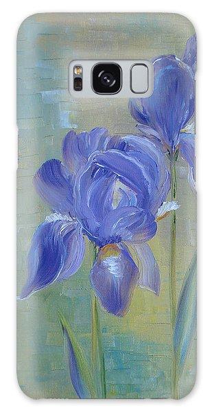 Elizabeth's Irises Galaxy Case by Judith Rhue
